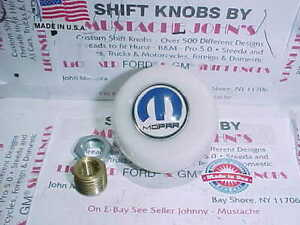 Mopar Dodge Plymouth Chrysler Custom Pure White Shift Knob Hot Rod