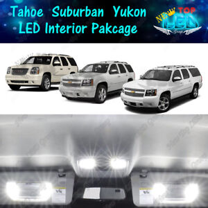 15x White Led Interior Lights Kit For 2007 2014 Chevy Tahoe Suburban Gmc Yukon