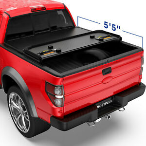 Tri fold 5 5ft 66 Inch Hard Solid Truck Bed Tonneau Cover For 15 20 Ford F150
