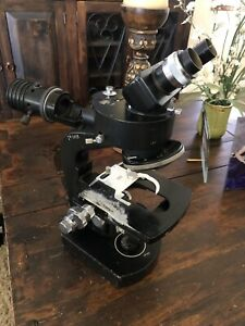 Wild Heerbrugg M20 34965 Microscope With 1 4x Vertical Illuminator And Head