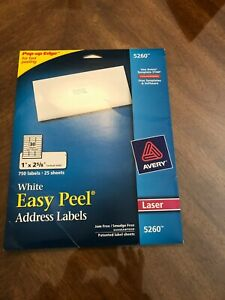 510 Avery 5260 Address Mailing Labels 1 X 2 5 8 Use Template 5160