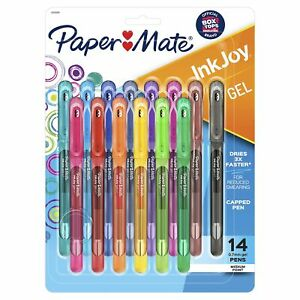 Paper Mate Inkjoy Gel Pens Medium Point 0 7mm Capped 14 Count