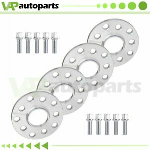 10mm Hubcentric 4pcs Wheel Spacers 5x100 5x112 For Vw Golf Jetta Tiguan Audi A8