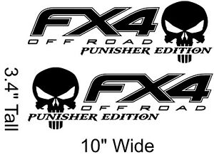 Ford Fx4 Punisher Custom Decal Set Of 2 Select Your Color