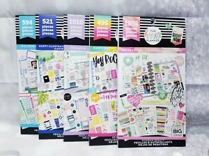 The Happy Planner 5 Sticker Book Set New