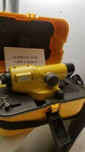 Geotop automatic level model G20e With Case User Manual Included