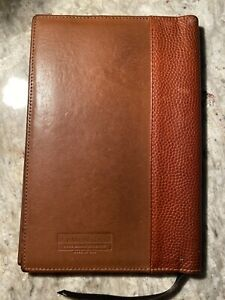 Levenger Usa Leather Book Jacket Notepad Cover