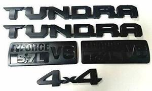 For 2014 2021 Toyota Tundra Matte Black Out Emblem Badges Tailgate 5 Piece Kit