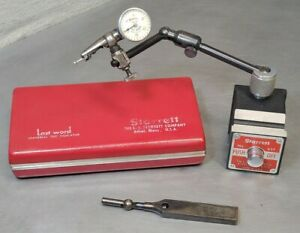 Starrett No 657a Magnetic Base With No 711 Last Word Indicator