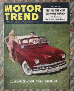 Motor Trend 1951 Zarro 41 Ford Custom Jeep Sunbeam Talbot Lincoln Auto Racing