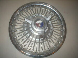 Single 1964 1965 Ford Mustang Wire Spinner Hub Cap Hubcap Rare Oem Used