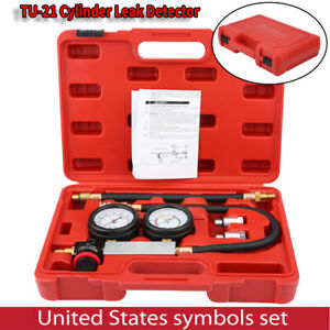 Cylinder Leak Tester Petrol Engine Compression Leakage Leakdown Detector Kit Usa