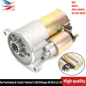 New Starter Fit For Ford Auto Truck F series F 150 Pickups 99 08 4 2l V6 6647