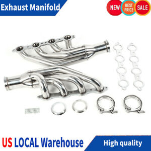 Turbo Header Exhaust Manifold For Chevy Small Block V8 Ls1 Ls2 Ls3 Ls6 Lsx 97 14