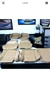 1997 2002 Pontiac Trans Am Neutral Tan Front And Rear Seat Covers New