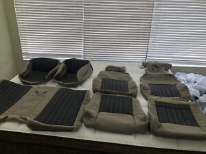 1997 02 Pontiac Trans Am Neutral Tan With Black Leather Seat Covers W ws6 Logos