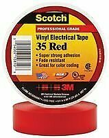3m 35 Red 3 4 x66ft Tape Insulation Pvc Red 0 75inx66ft 10 Pieces