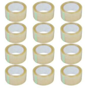 12 Rolls 2 7mil 60yards Heavy Duty Carton Packing Shipping Sealing Tape 180ft