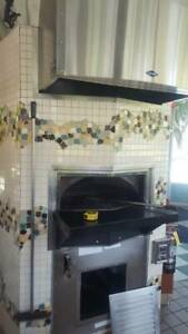 Pizza Oven Wood Stone Gas Hearth 5ft Wide