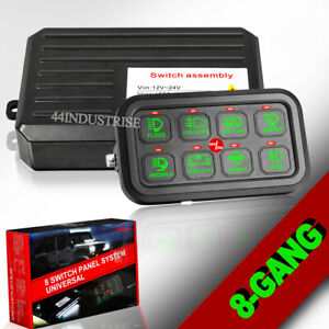 8gang Switch Panel Circuit Electronic Relay Fuse System Off Road Boat Marine 12v
