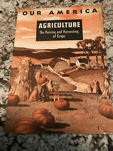 1943 Coca Cola Our America School Booklet On Agriculture Book And Stamps