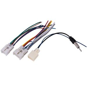 20x car Stereo Cd Dvd Wiring Harness For Toyota With Antenna Adapter Cable W5s3