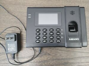 Amano Fpt 80 Time Clock Biometric Time Management Tracking System Fingerprint