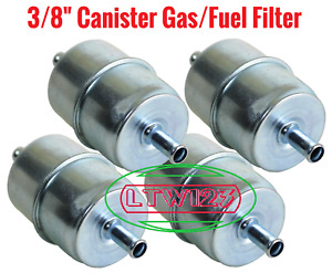4 Gas Filter Canister Style Inline Fuel Filter 3 8 Hose Carbureted