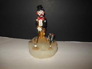 BEAUTIFUL RON LEE TWO FOR FORE GOLF CLOWN SKUNK FIGURINE ON ONYX BASE L 297 $66.30