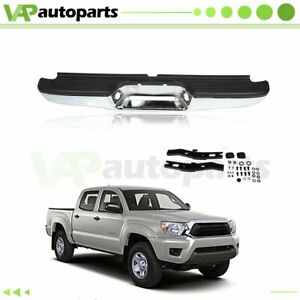 New Chrome Complete Rear Steel Bumper Assembly Car For 1995 1999 Toyota Tacoma