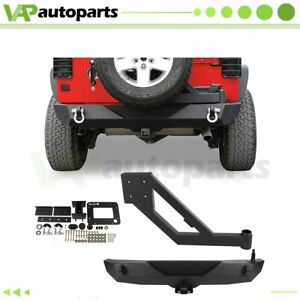 For Jeep Wrangler 2007 2017 2018 Jk Texture Rear Bumper W Tire Carrier