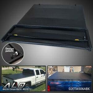 Four Fold Tonneau Cover For 2007 2013 Chevy Silverado Gmc Sierra 8ft Long Bed