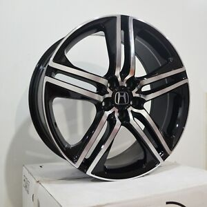 19 Inch Black Machined Rims Fits Honda Civic Sedan 2012 2018 4 Wheels