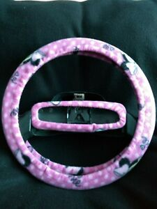 Minnie Mouse Pink Fleece Steering Wheel Cover Set