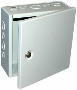 1 Sheet Metal Junction Box Electric Hinged Cover Enclosure Wire 10x10x6