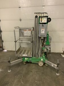 2012 Genie Awp30s 30 Electric Personnel Scissor Vertical Mast Man Lift