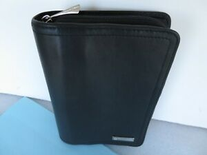 Pocket 1 Rings Franklin Covey Black Leather Unstructured Zip Planner binder