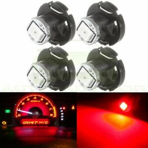 4pcs Red 1 2835 Smd Led T4 2 T4 Neo Wedge Dash Climate Panel A C Light Bulb 12v