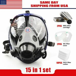 Us Facepiece Respirator Full Face Similar 6800 Gas Mask Suit Painting Spraying