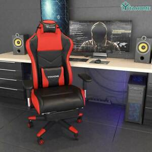 Yitahome Ergonomic Computer Gaming Chair With Footrest Office Lumbar Massage
