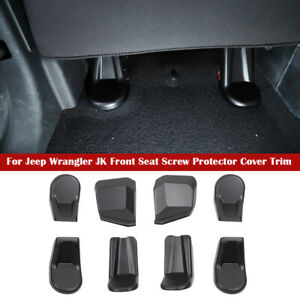 For Jeep Wrangler Jk 2011 2017 Interior Front Seat Screw Protector Cover Trim 8x