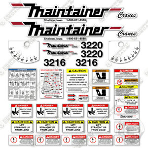 Maintainer 3216 20 Decal Kit Safety Stickers With Logos 3m Vinyl