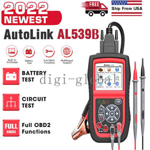 Autel Al539b Battery Electrical Circuit Tester Obd2 Can Car Code Reader Scanner