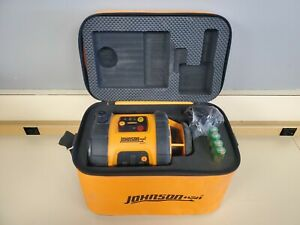 Johnson 40 6515 Self leveling Rotary Laser Level W Bag Used