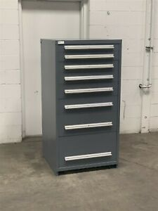 Used Stanley Vidmar 8 Drawer Cabinet Industrial Tool Part Storage 2208