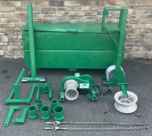 Greenlee 686 4000 Lb Cable Puller Wire Tugger Package 640 Motor nice Shape 1