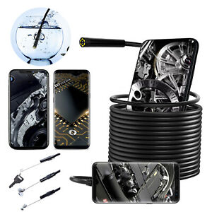 Waterproof Inspection Camera Cam Endoscope For Iphone Ios android Phone Car tube
