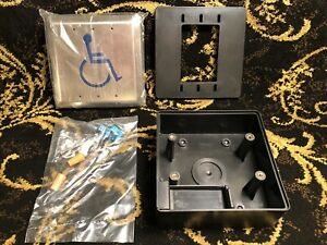 Handicap Push Entry Button W black Box Ada Disabled Handicap Switch 1199