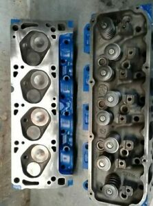 Ford 351c Cylinder Heads D1ae ga Closed Chamber 4 Barrel ready To Bolt On