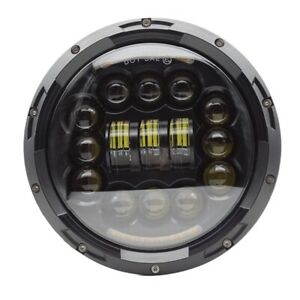 1x 7 Inch Motorcycle Led Headlight With Turn Signal Halo Drl For Lada Niva Q5u0